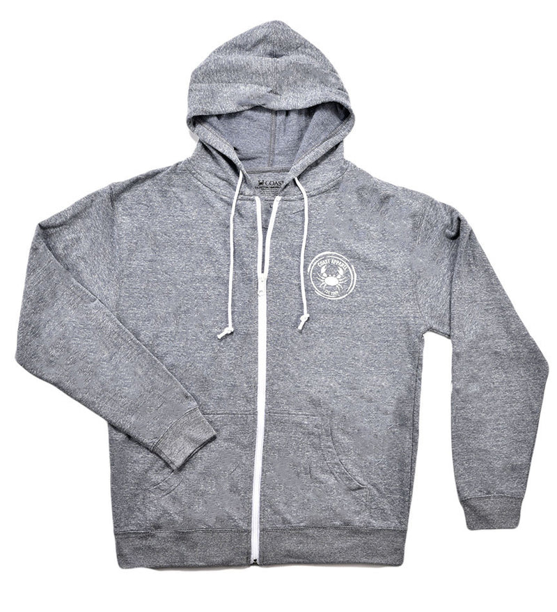 French Terry Zip Hoodie - Graphite Snow Heather