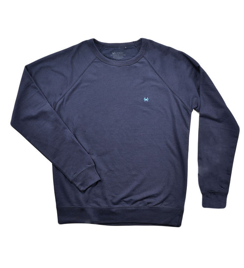 French Terry  Crew Neck - Navy