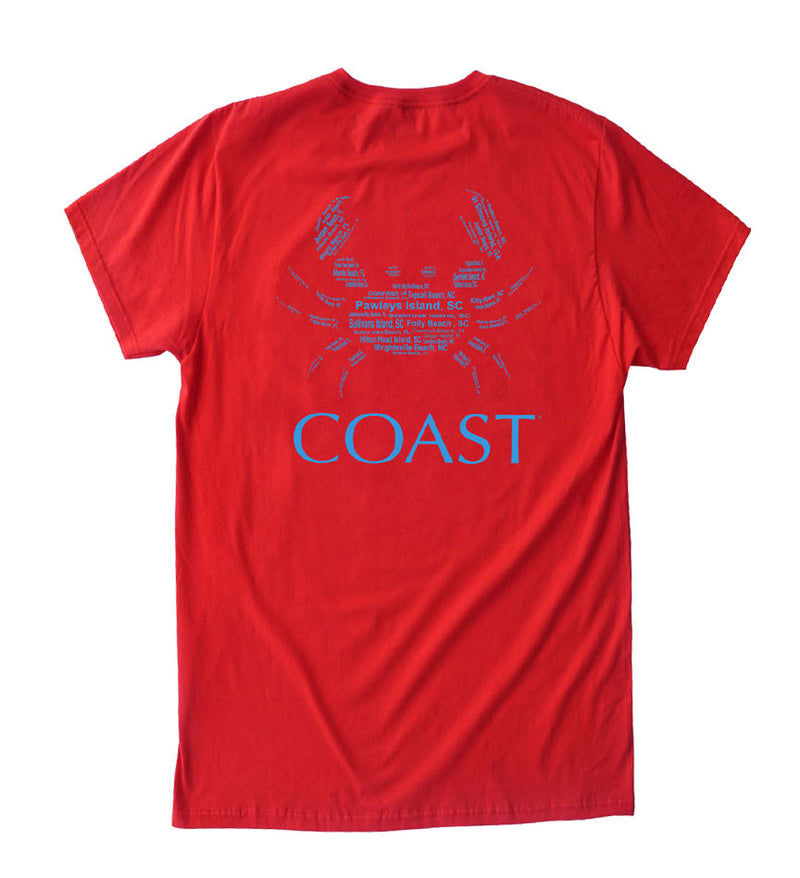 Beach Crab - Regatta Red Tee