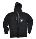 Fleece Zip Hoodie - Black Snow Heather