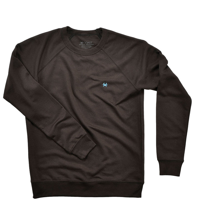 French Terry Crew Neck - Black
