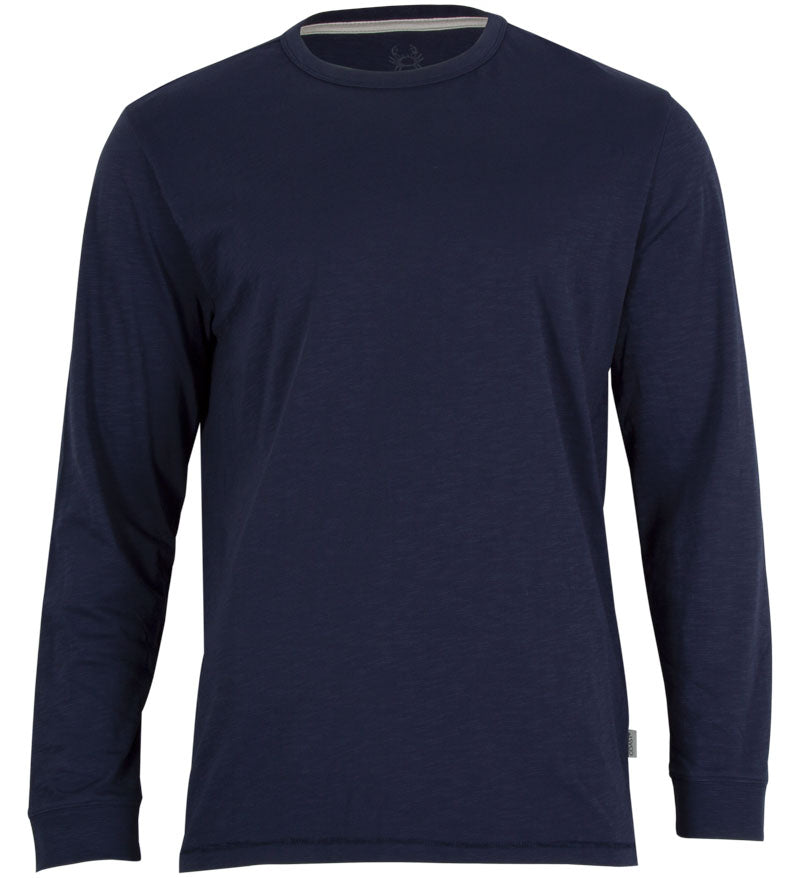 Coast Apparel Solid Seashore Long Sleeve Tee navy front