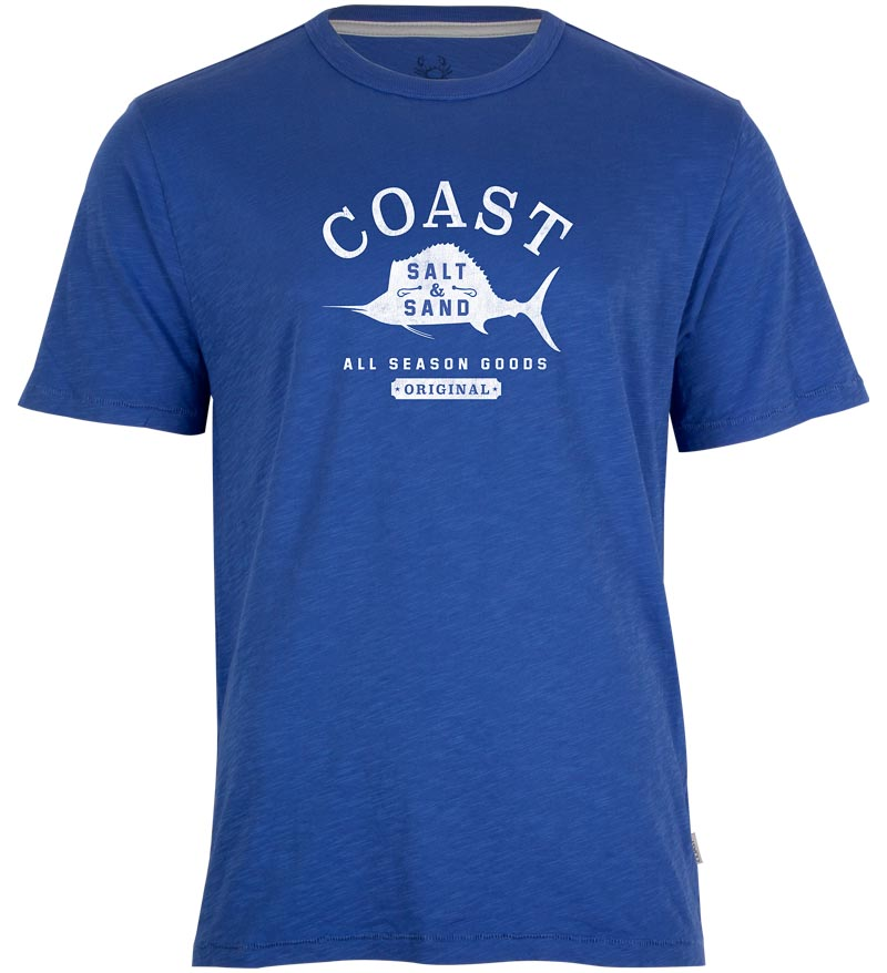 Coast Apparel Salt and Sand Saltwater Tee cobalt front