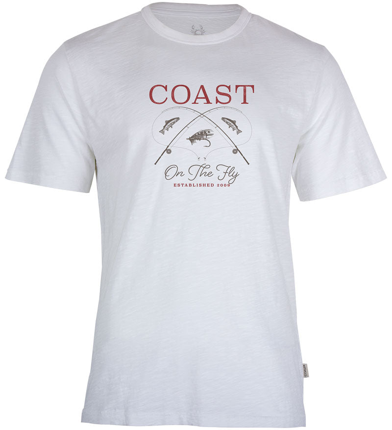 Coast Apparel On the Fly Saltwater Tee white front