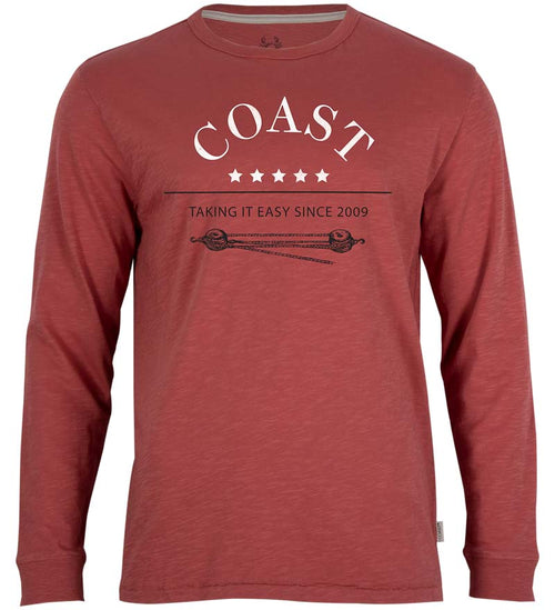 Coast Apparel Taking It Easy Seashore Long Sleeve Tee spice front