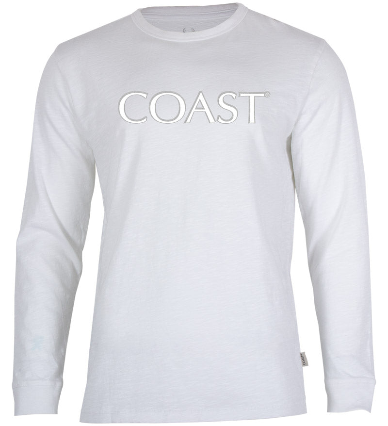 Coast Apparel Shine Seashore Long Sleeve Tee white front
