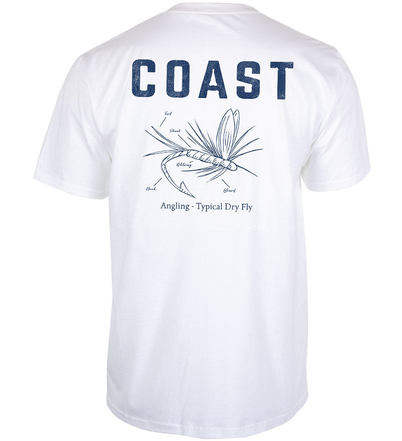Coast Apparel Dry Fly Classic Pocket Tee white back