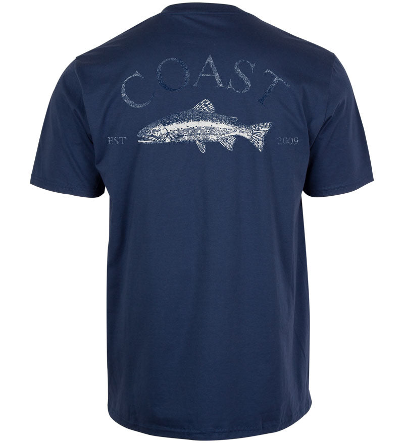 Coast Apparel Shine Classic Pocket Tee navy back