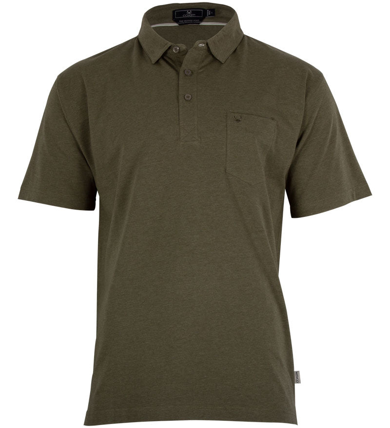 Coast Apparel Boys Skipper Polo olive heather front