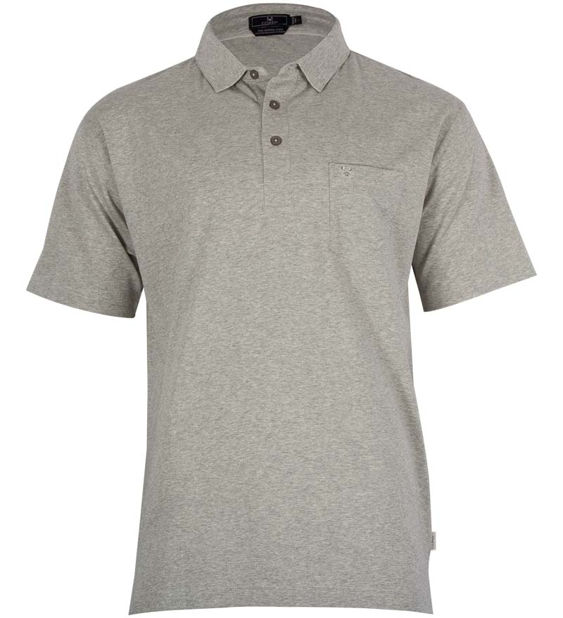 Coast Apparel Skipper Polo zinc heather front