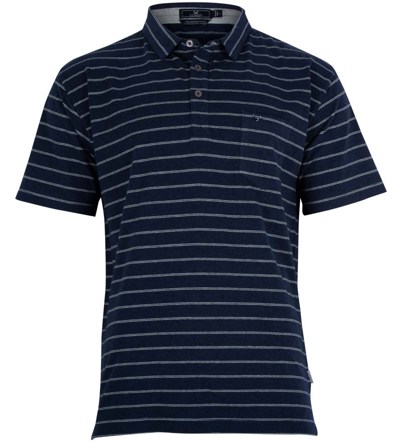 Coast Apparel Slipknot Polo navy heather front