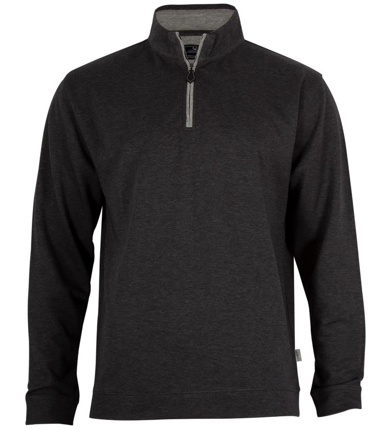 Coast Apparel Beacon Heather Quarter Zip charcoal heather front