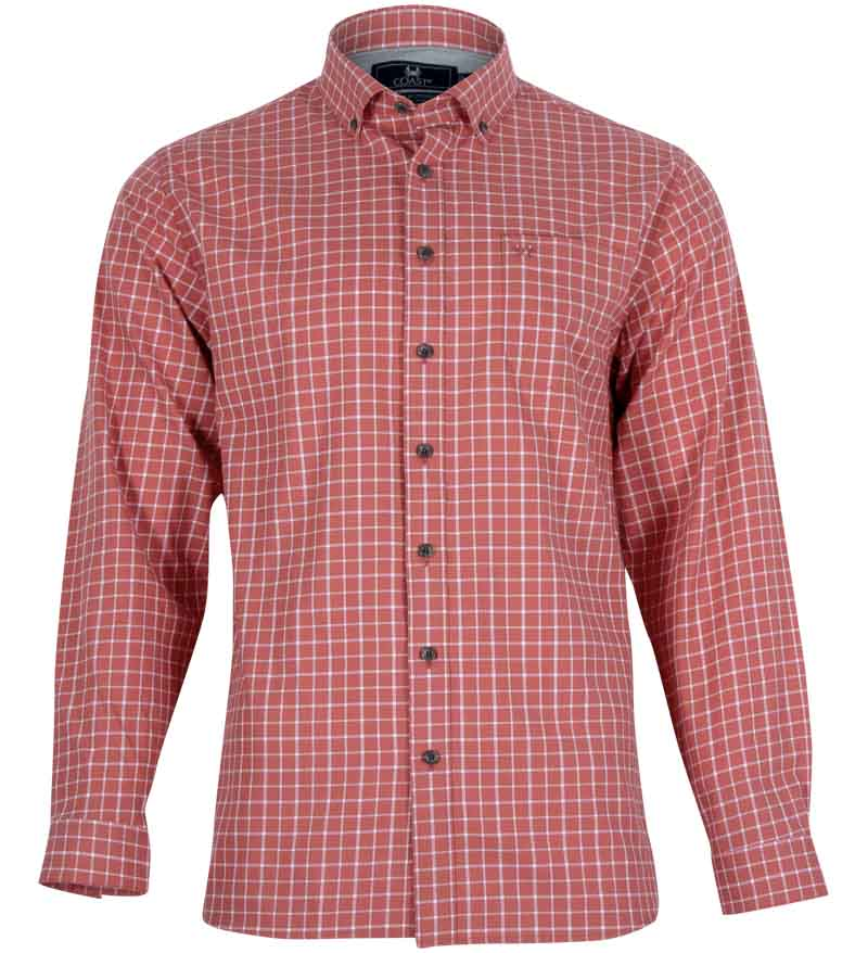 Coast Apparel Marlin Button Down Shirt spice front