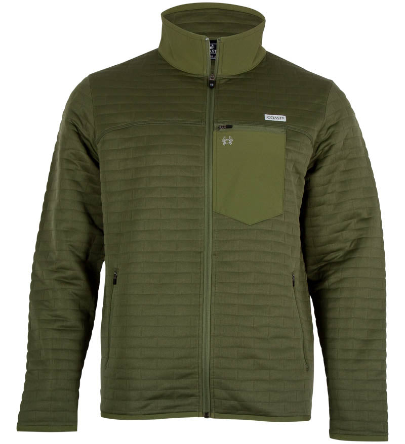 Coast Apparel Foresail Quilted Jacket olive front