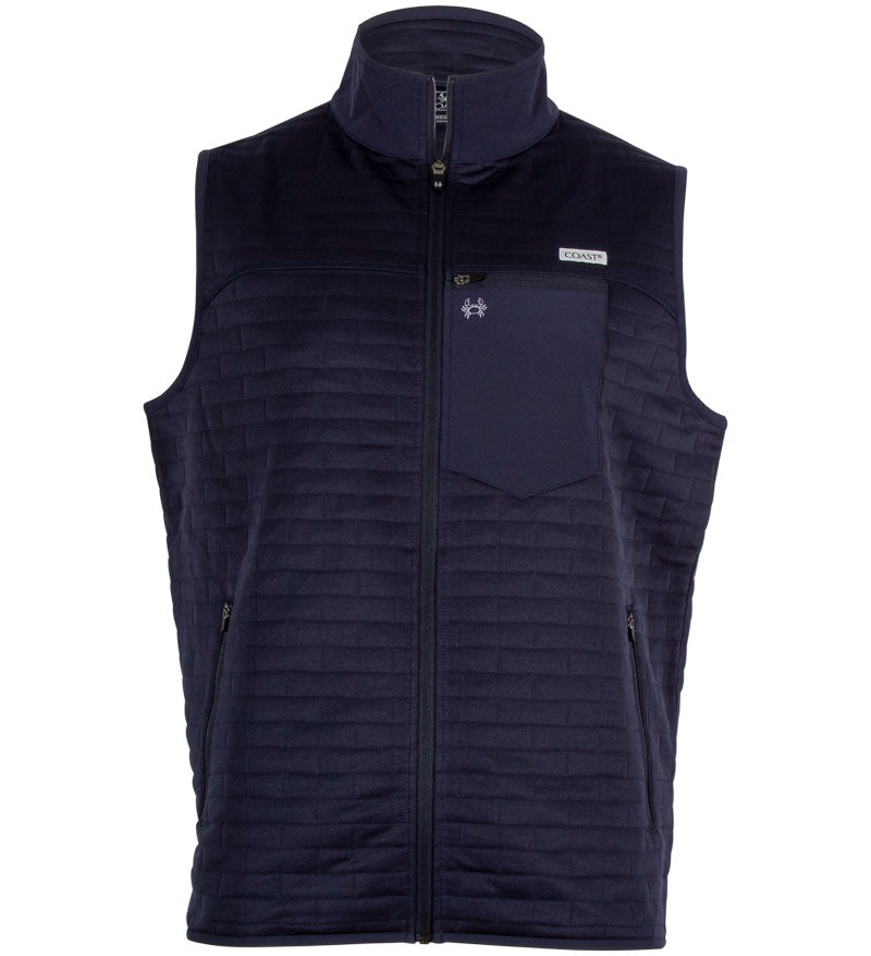 Coast Apparel Foresail Quilted Vest navy front
