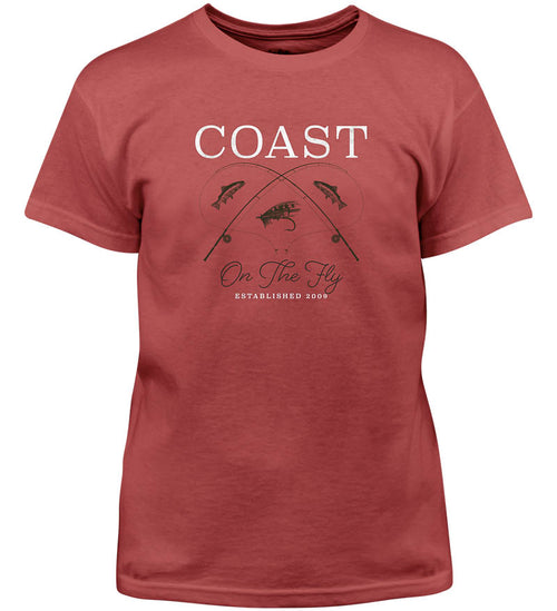 Coast Apparel Boys On the Fly Saltwater Tee spice front