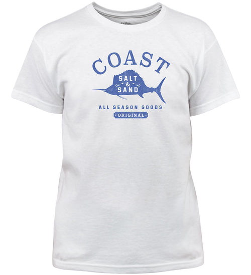 Coast Apparel Boys Salt and Sand Saltwater Tee white front