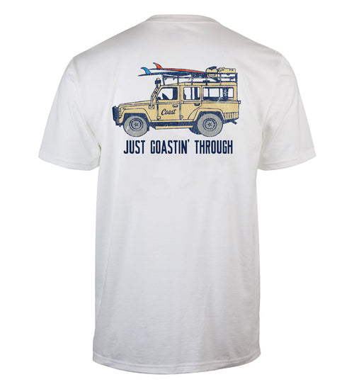 just coastin' through short sleeve classic t-shirt