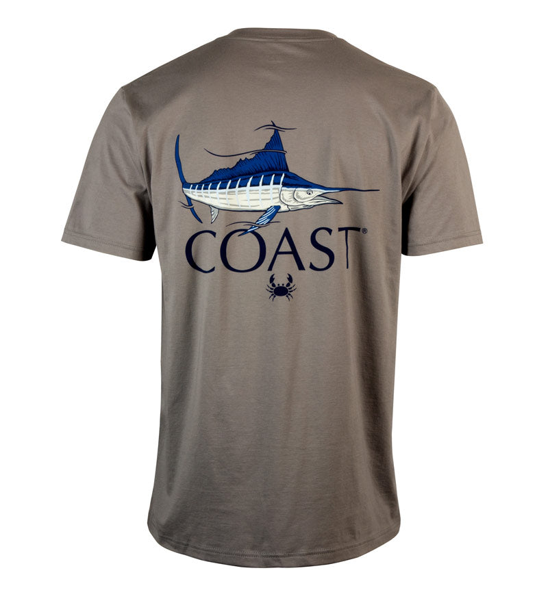 Marlin Fish Classic T-Shirt - grey - back