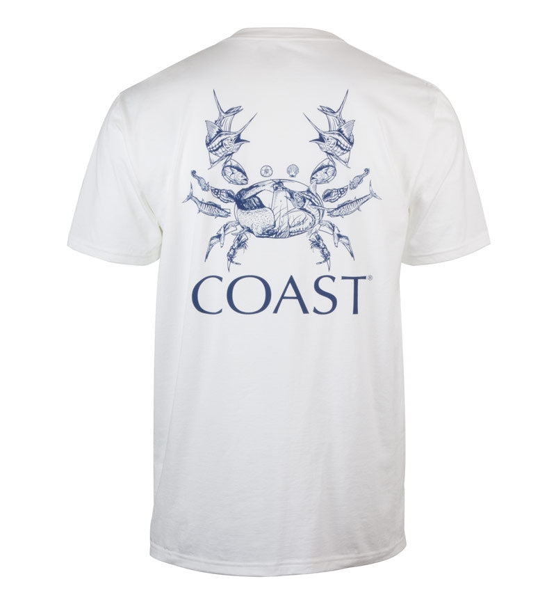 Nautical Crab classic t-shirt - white - back