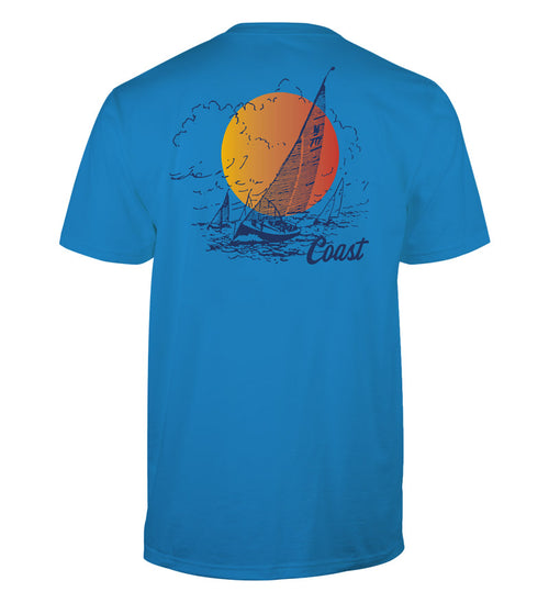 sailboat sunset classic t-shirt