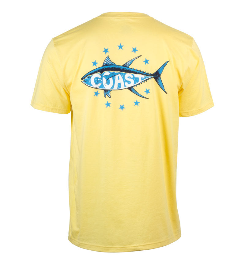 Star Tuna T-Shirt - Sunshine Yellow Tee Shirt Back