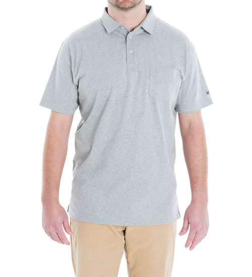 winyah cotton polo - grey