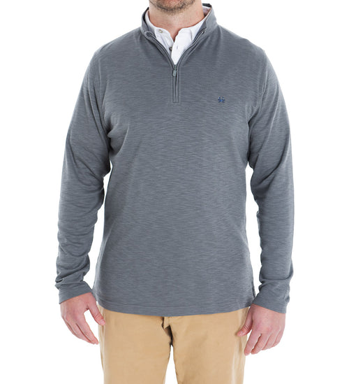 Light Grey quarter zip pullover