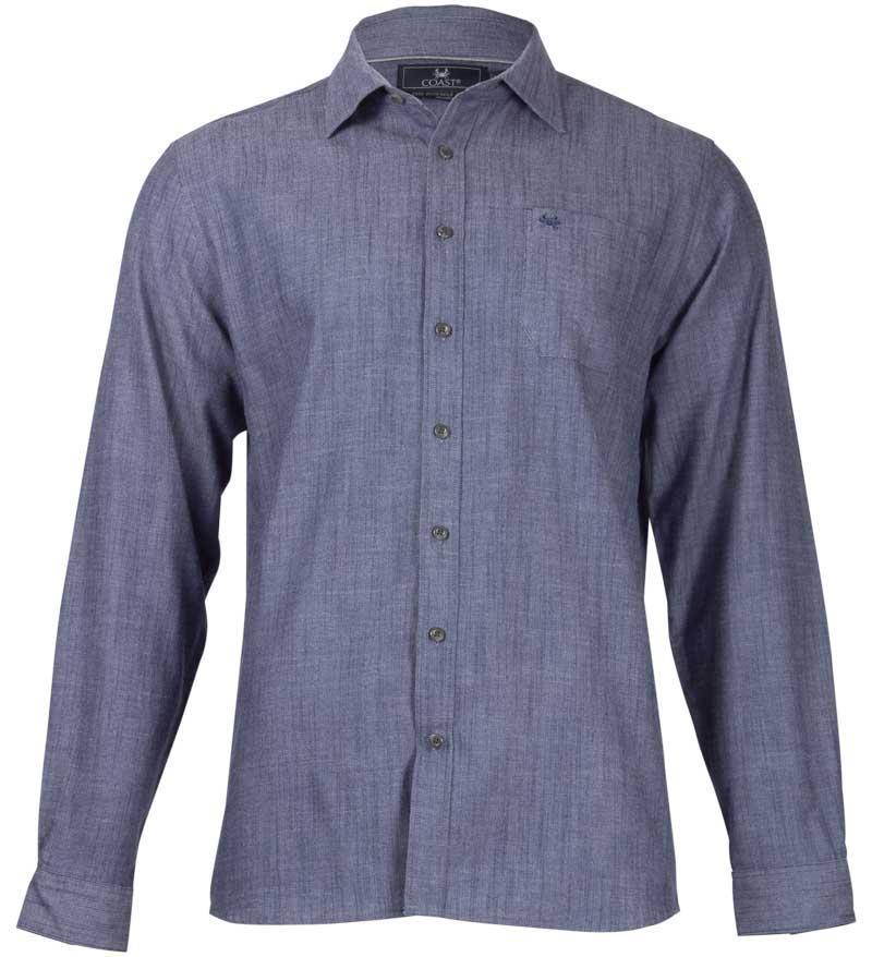 Coast Apparel Bowman Button Down Shirt chambray front