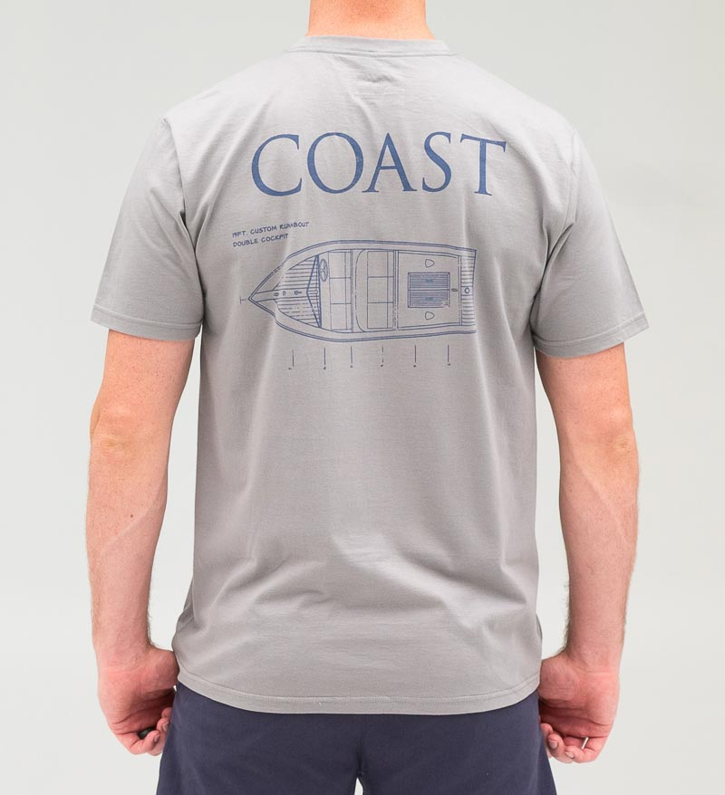Coast Apparel Blue Print Classic Tee Hurricane back