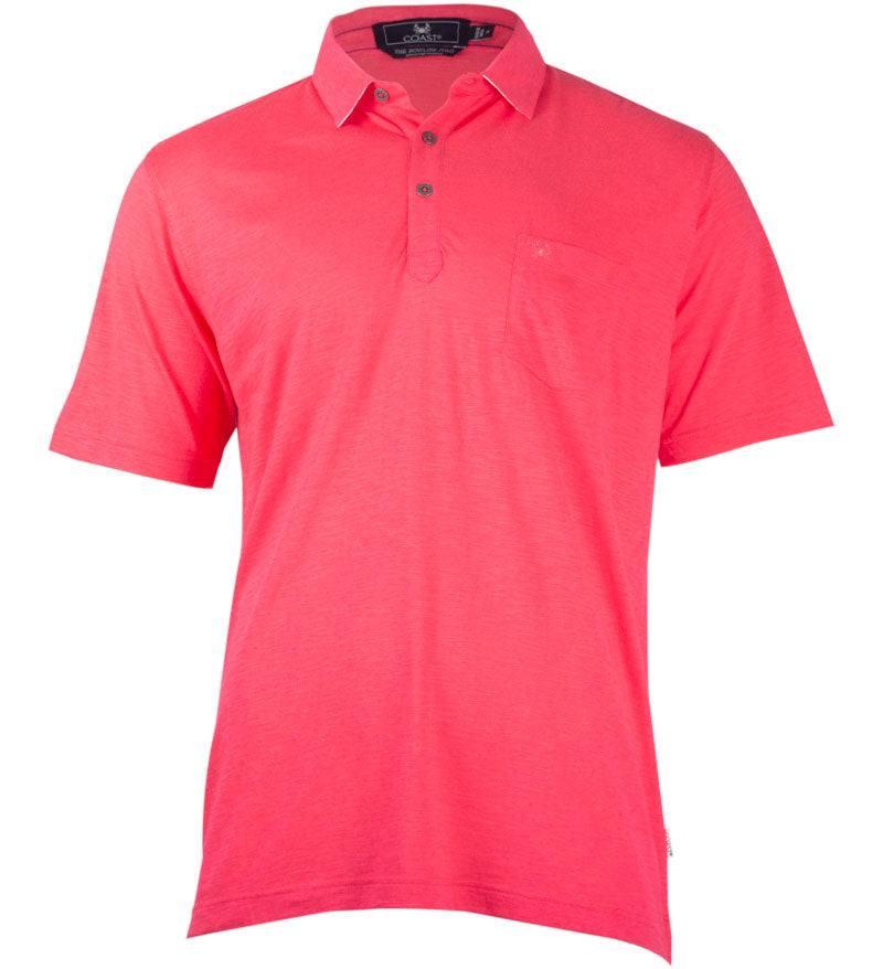 Coast Apparel Bowline Polo watermelon front
