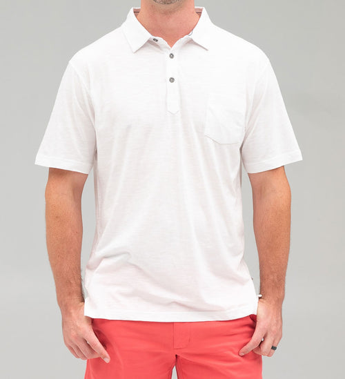 Coast Apparel Bowline Slub Polo white front