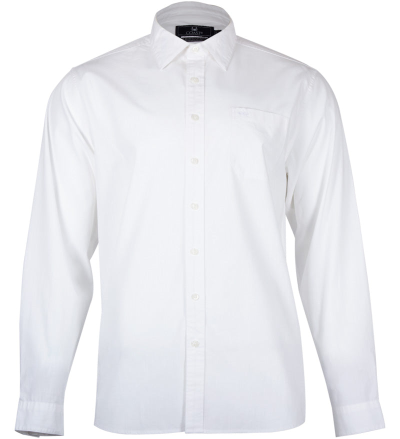 Coast Apparel Bowman Button Down white front