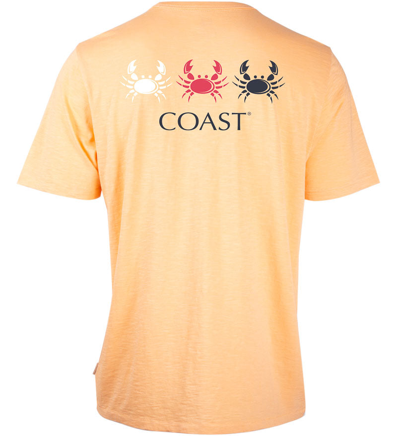 Coast Apparel Crab Fan Graphic Saltwater Tee in coral back