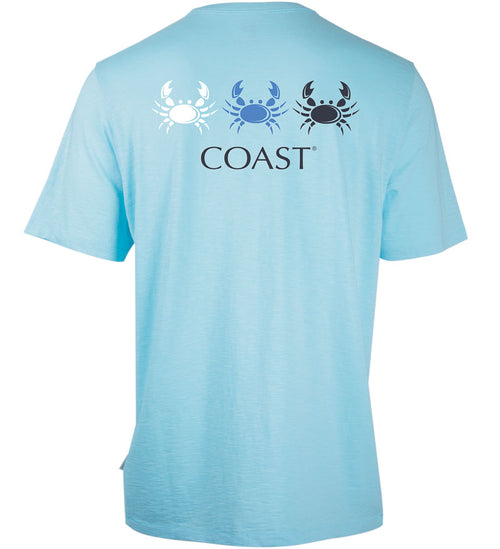 Coast Apparel Crab Fan Graphic Saltwater Tee in Breaker back