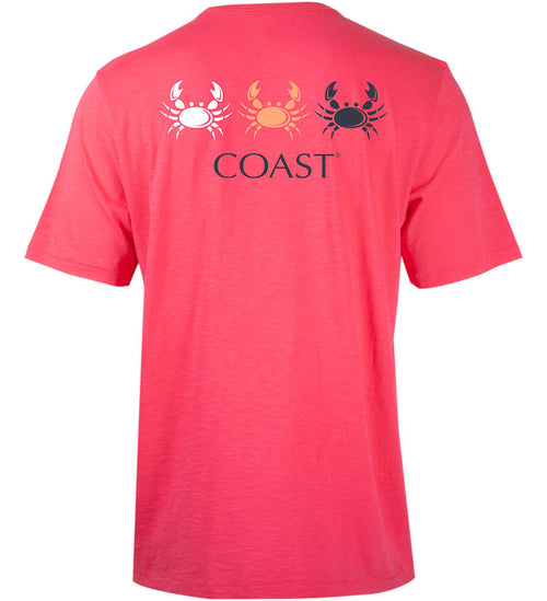 Coast Apparel Crab Fan Graphic Saltwater Tee in Watermelon back