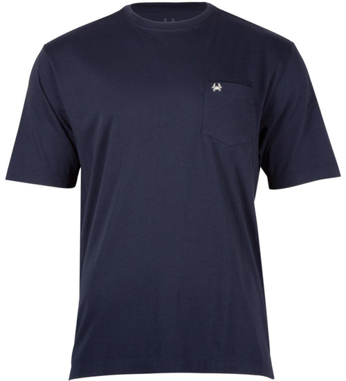 Coast Apparel Pima Crew Pocket Tee navy front