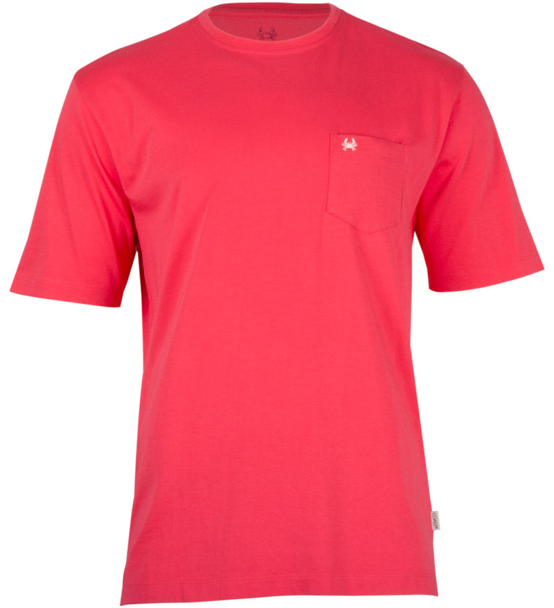 Coast Apparel Pima Crew Pocket Tee watermelon front