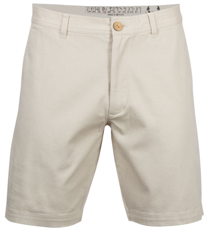 Coast Apparel Boy's Dock Shorts stone front