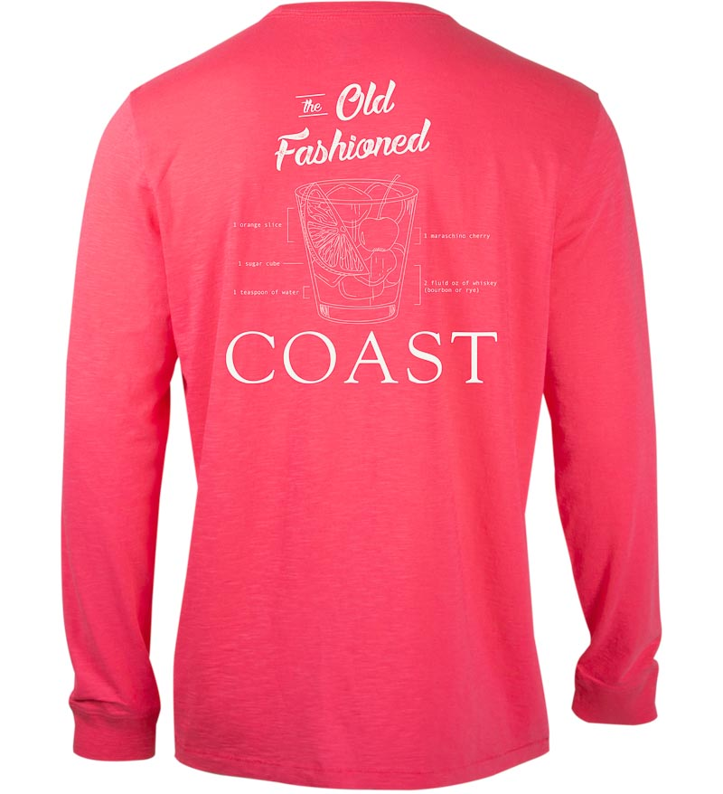 Coast Apparel Old Fashioned Graphic Seashore Tee watermelon back