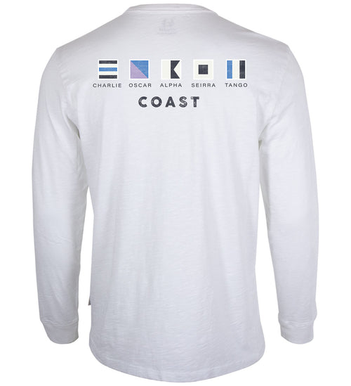 Coast Apparel Coast Flag Seashore Long Sleeve Tee white back