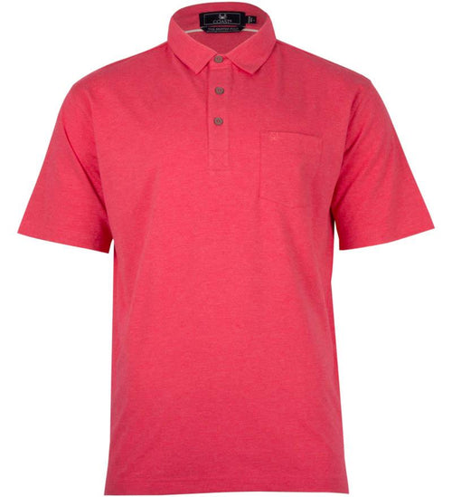 Coast Apparel Boys Skipper Polo watermelon heather front
