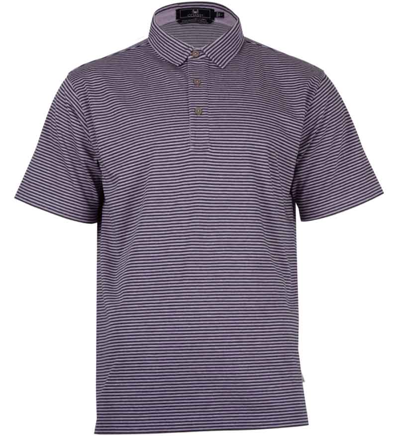 Coast Apparel Spring Slipknot Polo aster heather front
