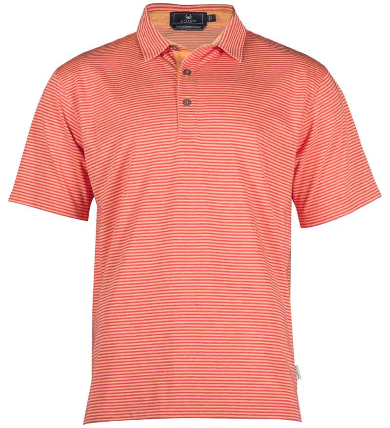 Coast Apparel Spring Slipknot Polo watermelon front