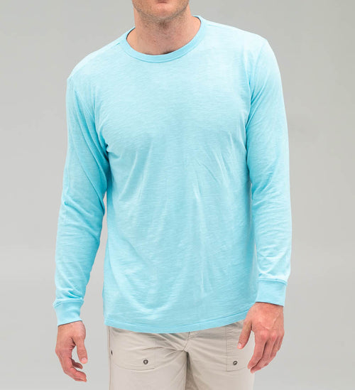Solid Seashore Long Sleeve Tee