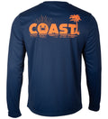 Navy performance t-shirt long sleeve