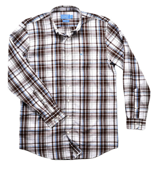 unisex plaid dress shirt - button down shirt