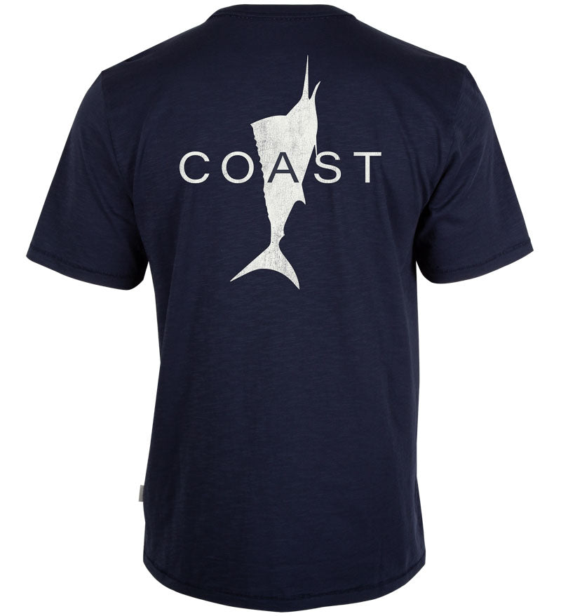 Coast Apparel Knock Out Graphic Saltwater Tee navy back