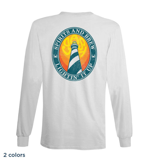 Long sleeve classic t-shirt with lighthouse screen-print