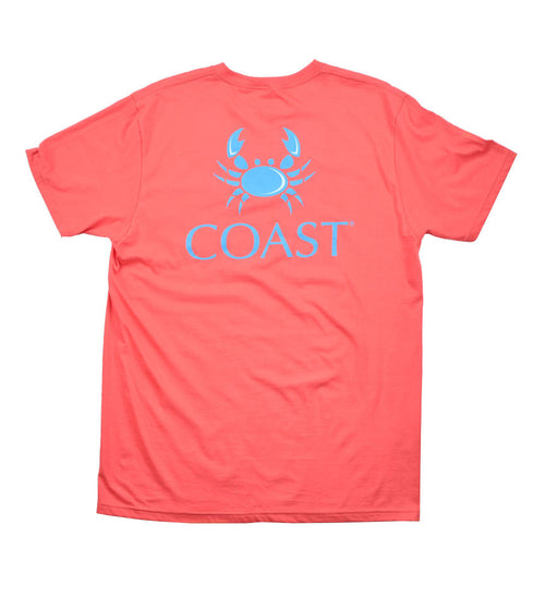 Crab Logo -Nantucket Red Tee